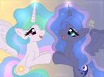 MLP FIM - Princess Celestia and Luna 2