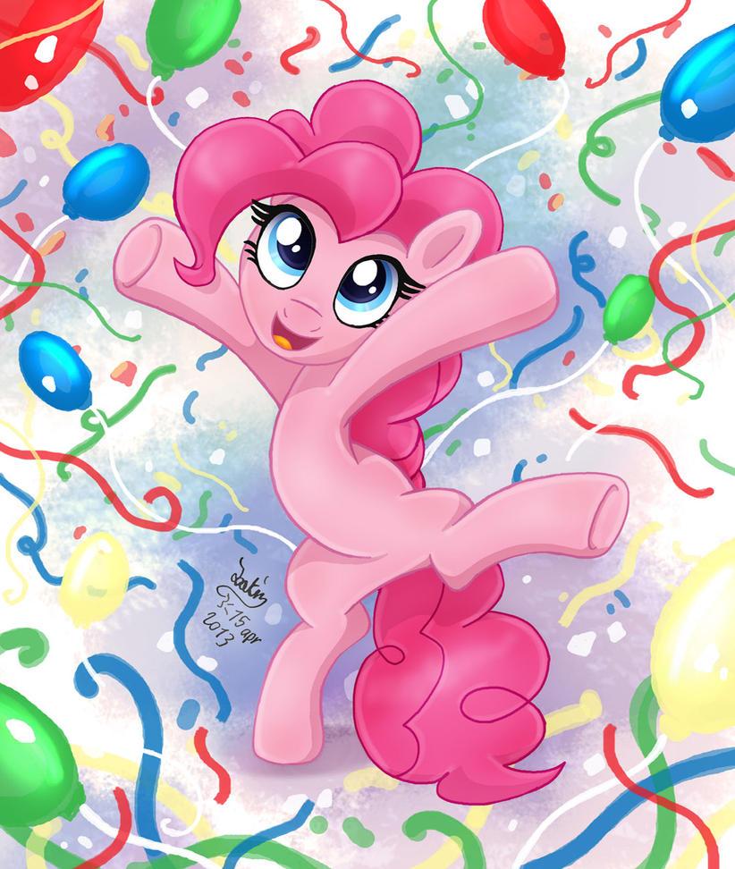 MLP FIM - Pinkie Pie Party Hard by Joakaha