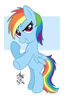 MLP FIM - Filly Rainbow Dash by Joakaha