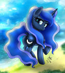 MLP FIM - Elegant Princess Luna At The Beach