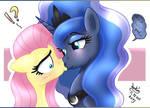 MLP FIM - Princess Luna And Fluttershy Kiss