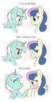 MLP FIM comic - Lyra Love Bon Bon