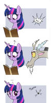 MLP FIM comic - Discord Annoy Princess Twilight