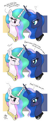 MLP FIM comic - Princess Celestia And Luna