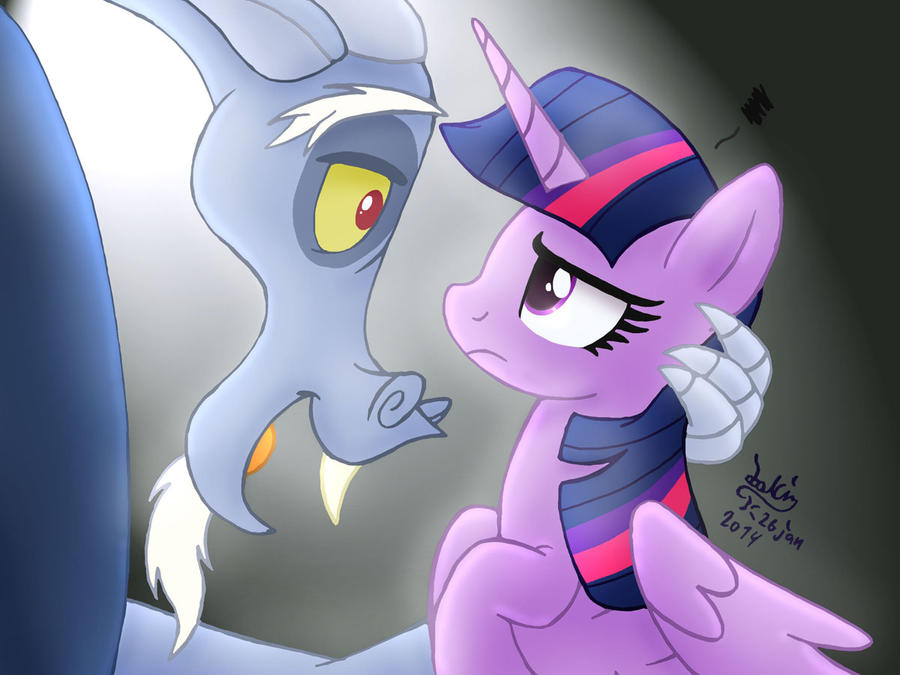Twilight Sparkle And Discord In Love MLP FIM - Discord And ...
