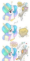 MLP FIM comic - Discord Annoy Princess Celestia