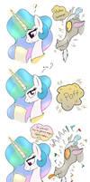 MLP FIM comic - Discord Annoy Princess Celestia by Joakaha