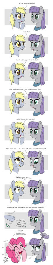 MLP FIM comic - Maud Pie Rock