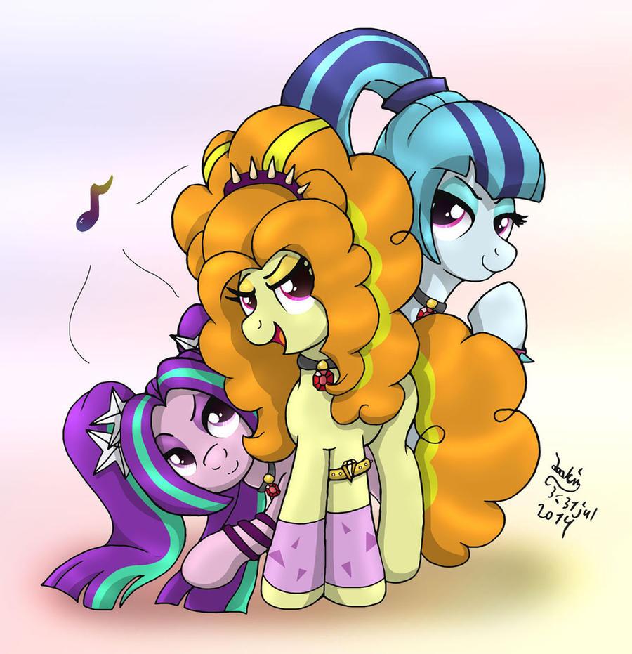MLP - Equestria Rainbow Rocks - Villains As Ponies by Joakaha