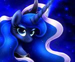 MLP FIM - Princess Luna Night Portret