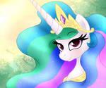 MLP FIM - Princess Celestia Morning Portret