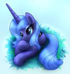 MLP FIM - Young Princess Luna Lying Down
