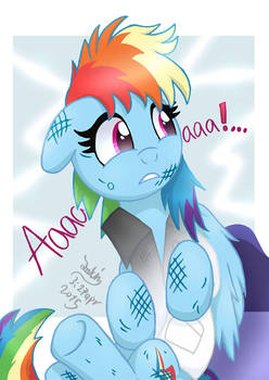 MLP FIM - Rainbow Dash's Cute Scream