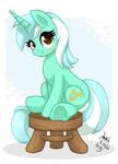 MLP FIM - Lyra Heartstring Sitting