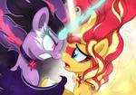 Equestria Girls - Evil Twilight And Good Sunset