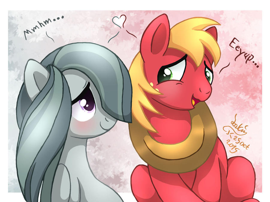 MLP FIM - Marble Pie And Big Mac by Joakaha
