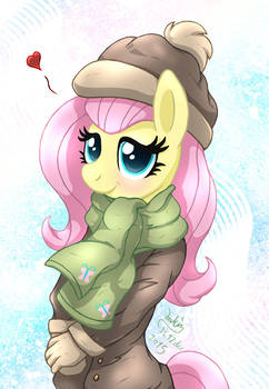 MLP FIM - Anthro Fluttershy Winter Clothes
