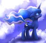 MLP FIM - Princess Luna Wind Blow