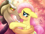 MLP FIM - Discord And Fluttershy Kissing