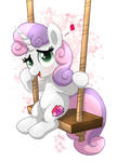 MLP FIM - Sweetie Belle On The Swing