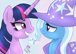 MLP FIM - Twilight Sparkle And Trixie Chance