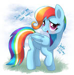 MLP FIM - Rainbow Dash Care Mare