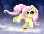 MLP FIM - Fluttershy Running Out In The First Snow