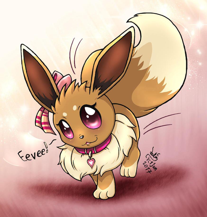 pokemon cute rare eevee use swift and charm by joakaha on deviantart