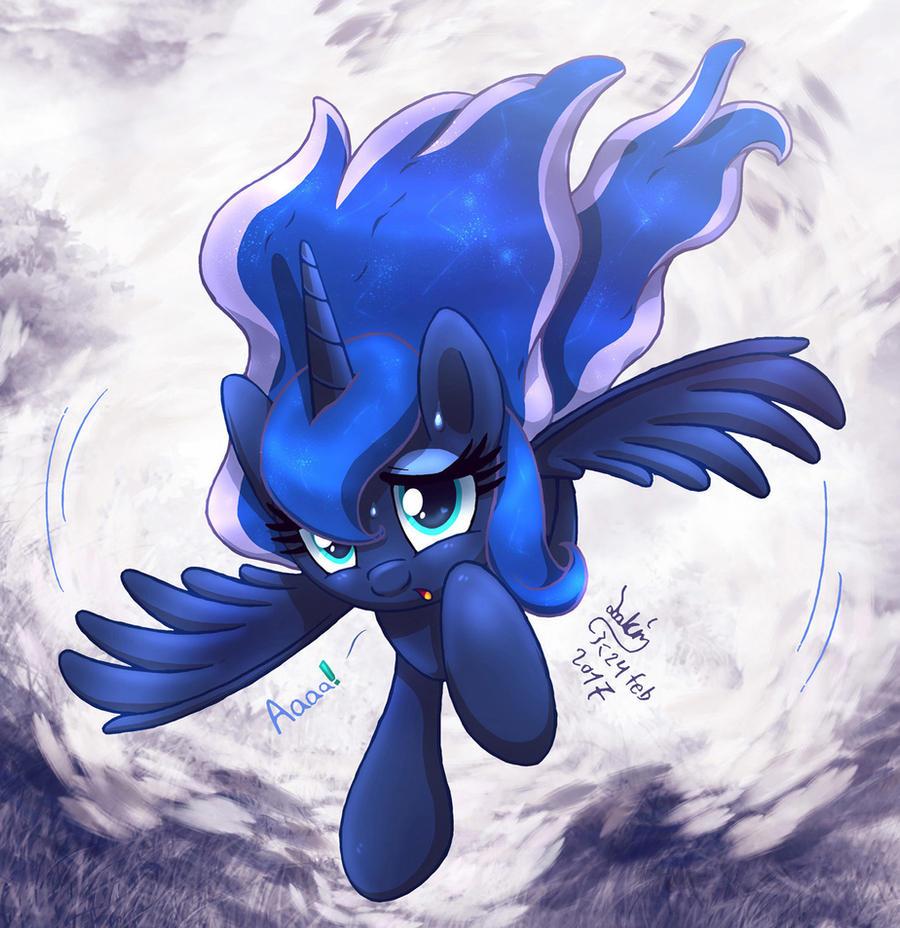 MLP FIM - Scared Little Luna Fly Crash