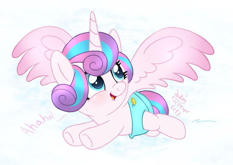 MLP FIM - Flurry Heart Flying