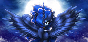 MLP FIM - Fluffy Princess Luna Night Goddess