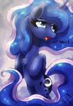 MLP FIM - Princess Luna In Heavy Rain Wait