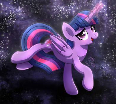 MLP FIM - Twilight Sparkle Magic Night Sky