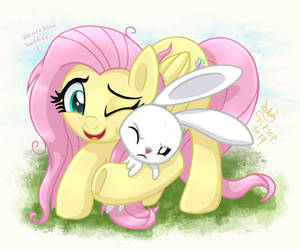 MLP FIM - Fluttershy And Angel Best Friends