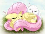 MLP FIM - Fluttershy Sleep Angel Like by Joakaha