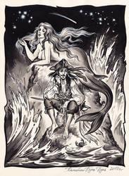 Captain Jack Sparrow and mermaid. by Bormoglot