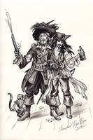 Captain Jack Sparrow and Hector Barbossa. by Bormoglot