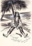 Captain Jack Sparrow. On the island.