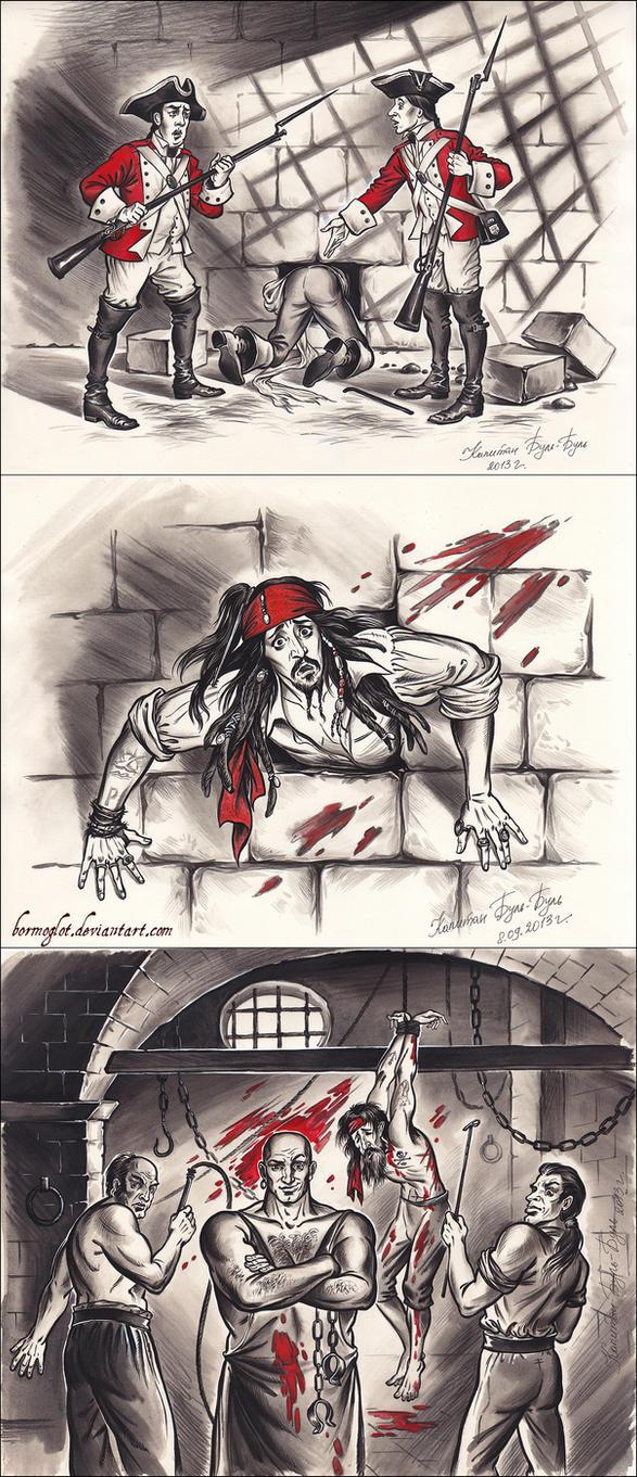 Jailbreak captain Jack Sparrow by Bormoglot
