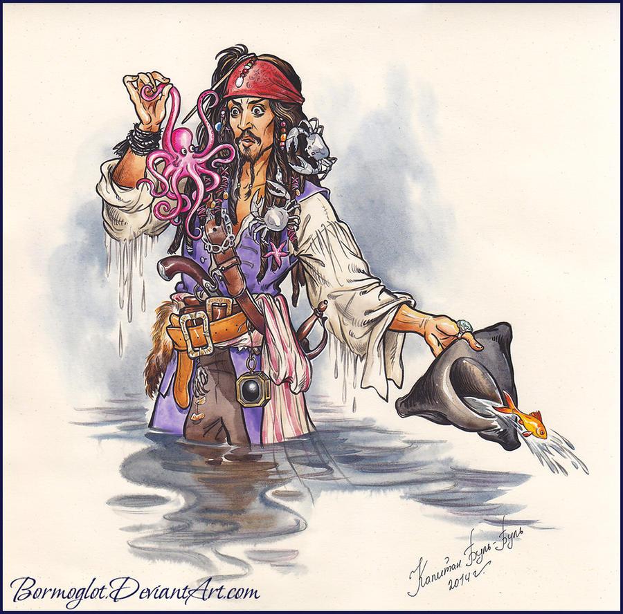 Арт девушка пират