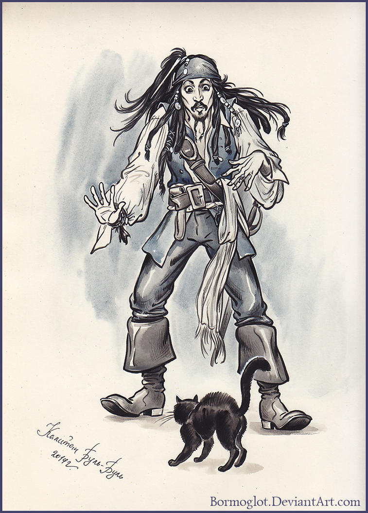 Captain Jack Sparrow and the black Cat. by Bormoglot