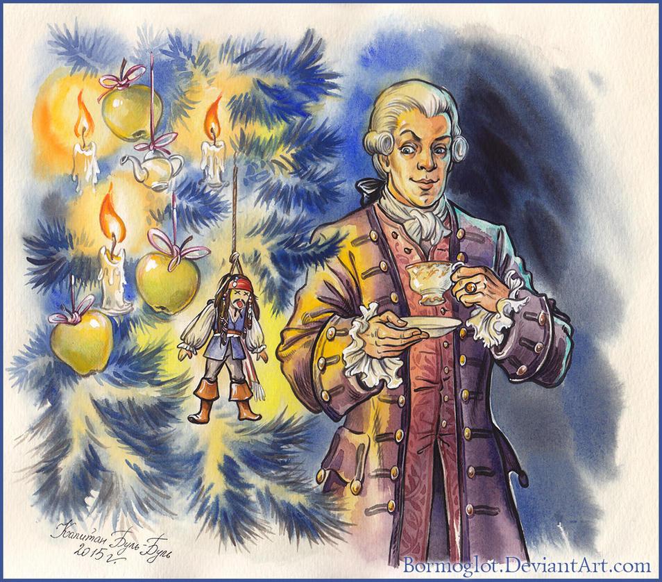 Lord Cutler Beckett and  Christmas tree. by Bormoglot