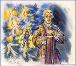 Lord Cutler Beckett and  Christmas tree.
