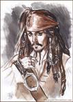 Captain Jack Sparrow, sketch.