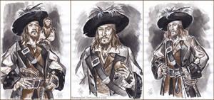 Captain Hector Barbossa, sketch.