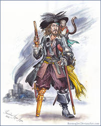 Captain Hector Barbossa. by Bormoglot