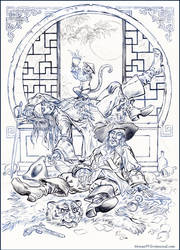 Jack Sparrow and Hector Barbossa. Sketch. by Bormoglot