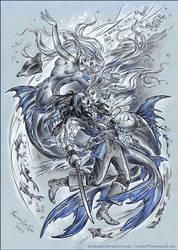 Pirate and mermaids.