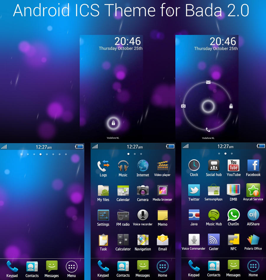 Ice Cream Wallpapers V1 For Android: Android ICS For Bada 2.0 By SlyrNemesis On DeviantArt