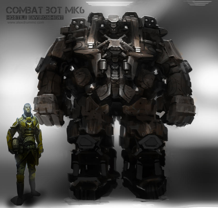 Combat Bot mk6 by alexdrummo